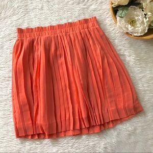 Banana Republic Coral Pleated Skirt